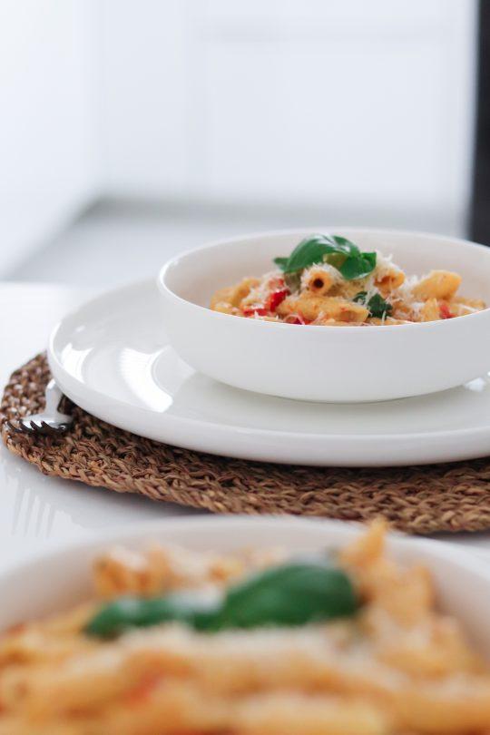 TikTok Viral Pasta Feta Cheese Cherry Tomato